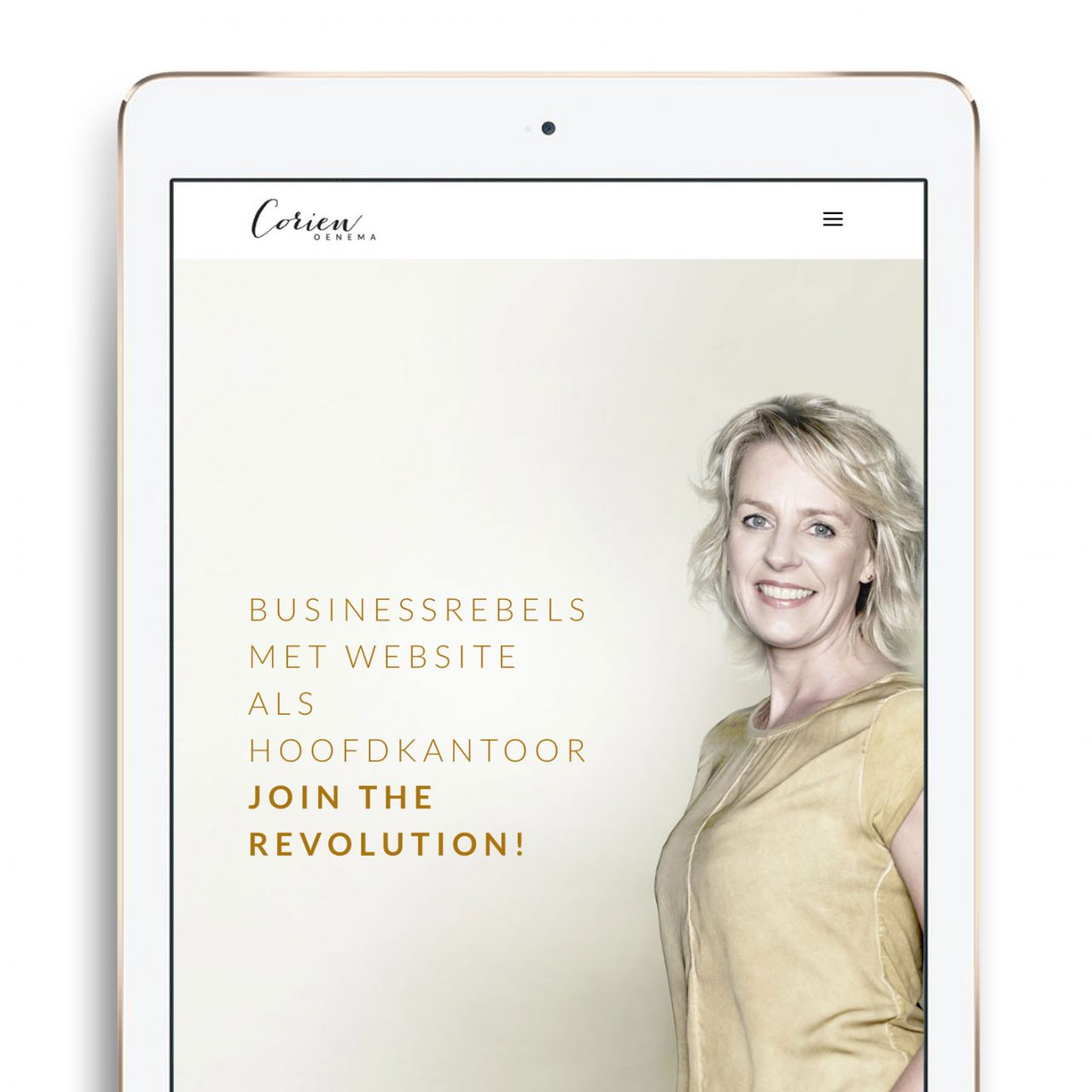 Studio Chris10 - Huisstijl en website voor Corien Oenema