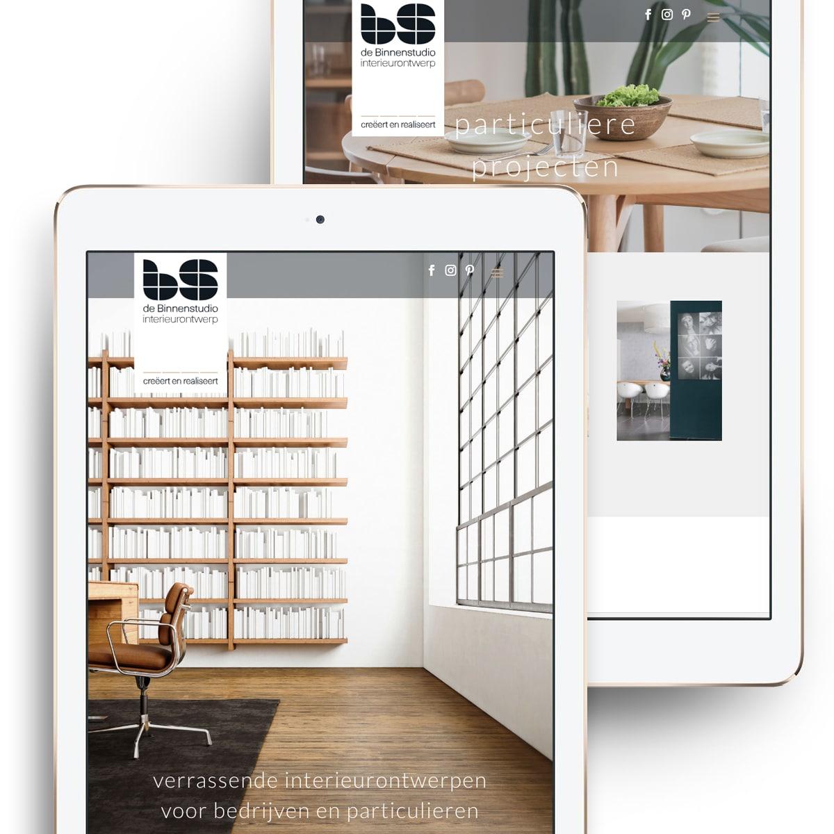 Studio Chris10 - Website voor De Binnenstudio