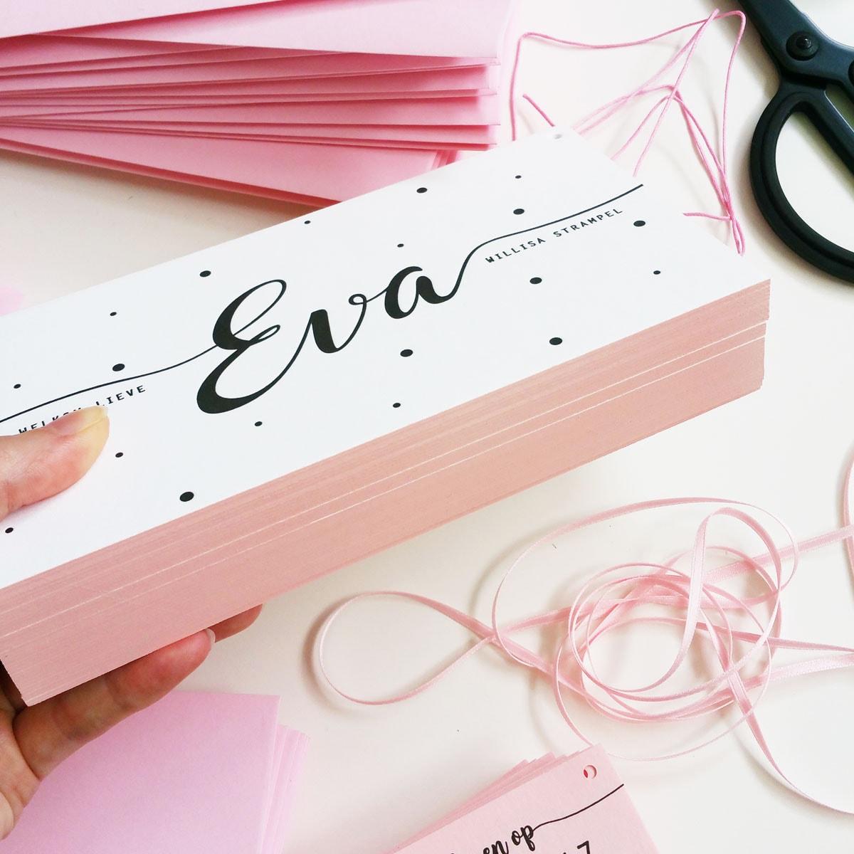 Studio Chris10 - Geboortekaartje ontwerp Eva