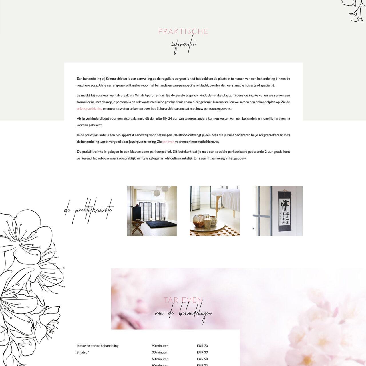 Studio Chris10 - Huisstijl en website voor Sakura Shiatsu