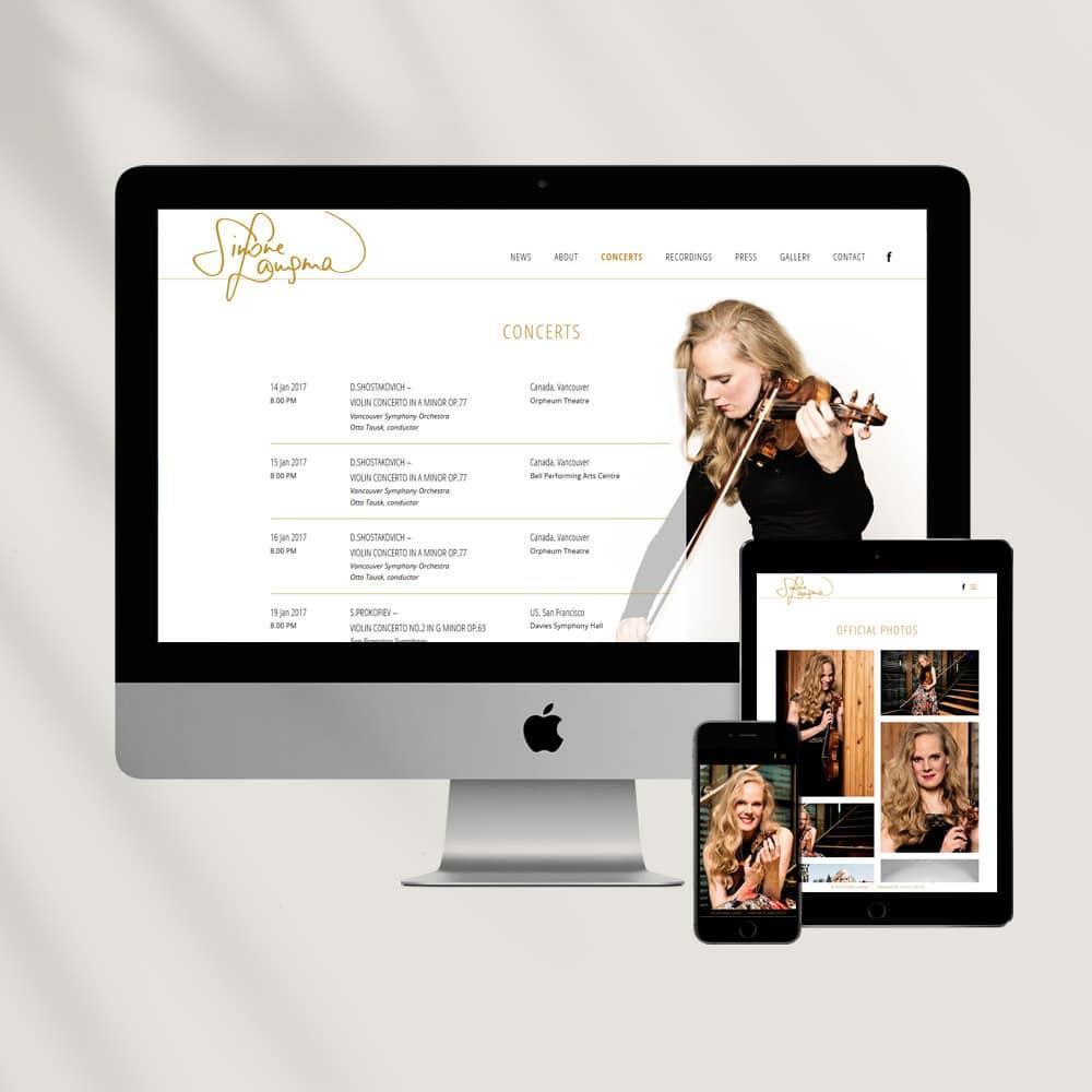 Studio Chris10 - Logo en website voor Simone Lamsma